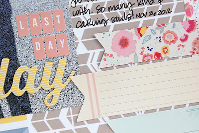 A scrapbook layout about work using a mix of American Crafts and Studio Calico products by Juliana Michaels detail