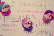 Pilih, Klik dan Menang (1st Giveaway by Mahirah Muhamad)