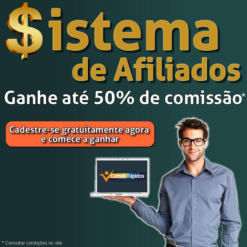 GANHE ATÉ 50% DE COMISSÃO EM DINHEIRO