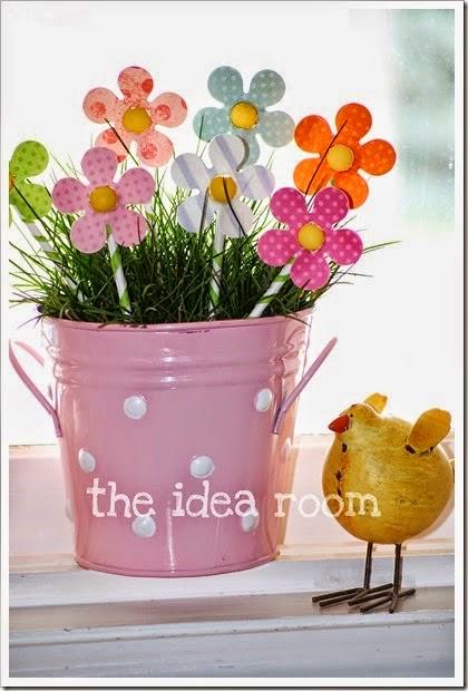 Flores de scrapbook para o dia das mães