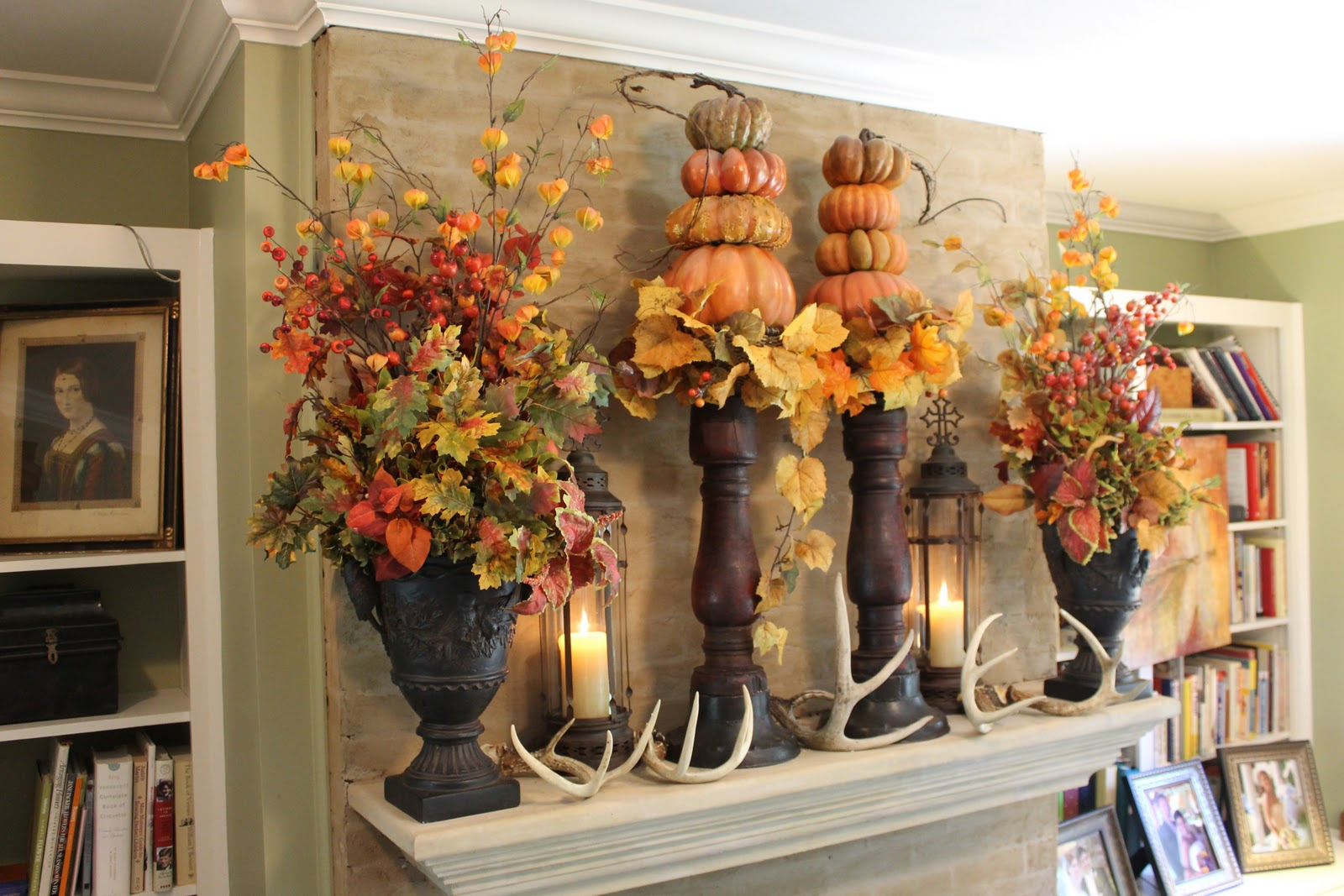 fall mantle arrangement photography - photo #1