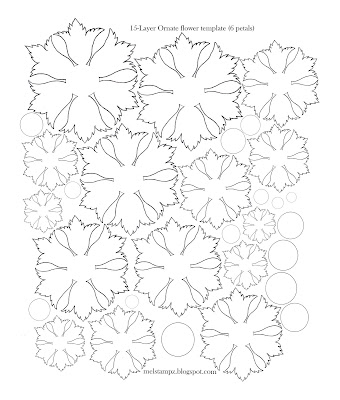 Mel Stampz  Hot Crafty Flowers Templates  Tutorials