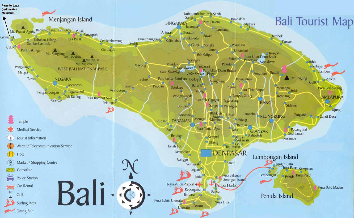 Most popular places in indonesia bali for Where to stay in bali indonesia