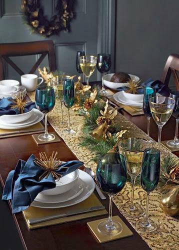 Decoração mesa de Natal - consoada