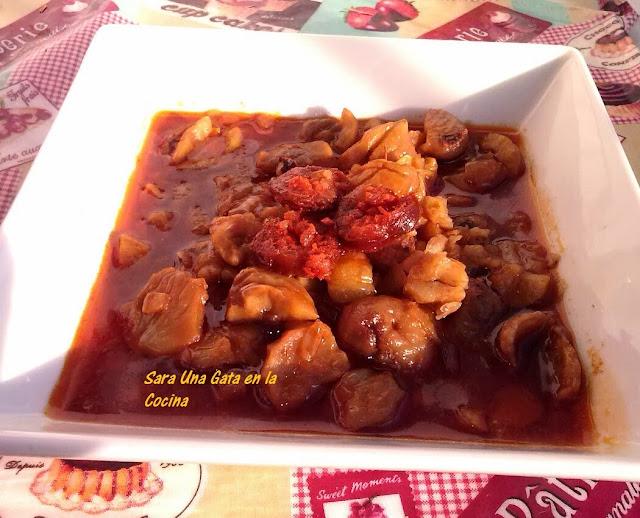Castañas Guisadas Con Chorizo