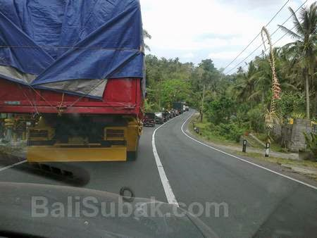Traffic jams in Bali