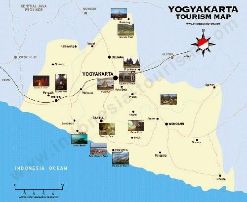 gambar peta jogja wisata