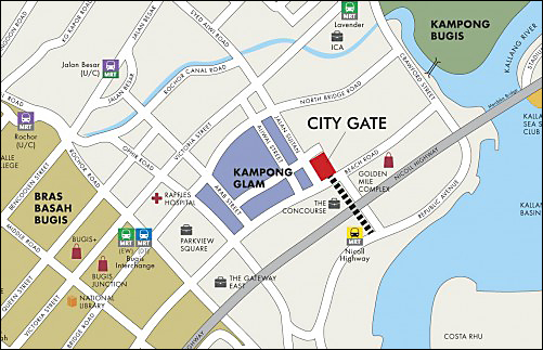 City Gate Condo's Location