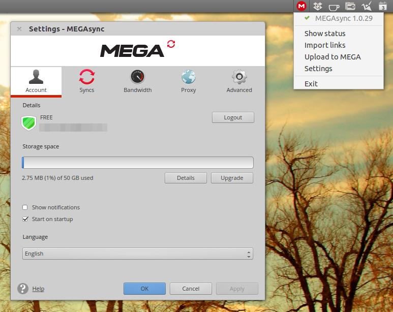 MEGAsync Ubuntu