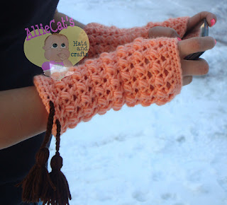 My Fair Lady Mitts by AllieCat's Hats & Crafts