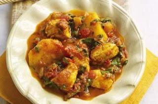 Curry de papa y espinaca