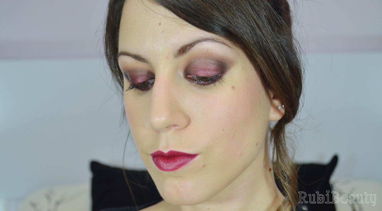 rubibeauty tutorial de maquillaje burgundy vamp burdeos halloween noche