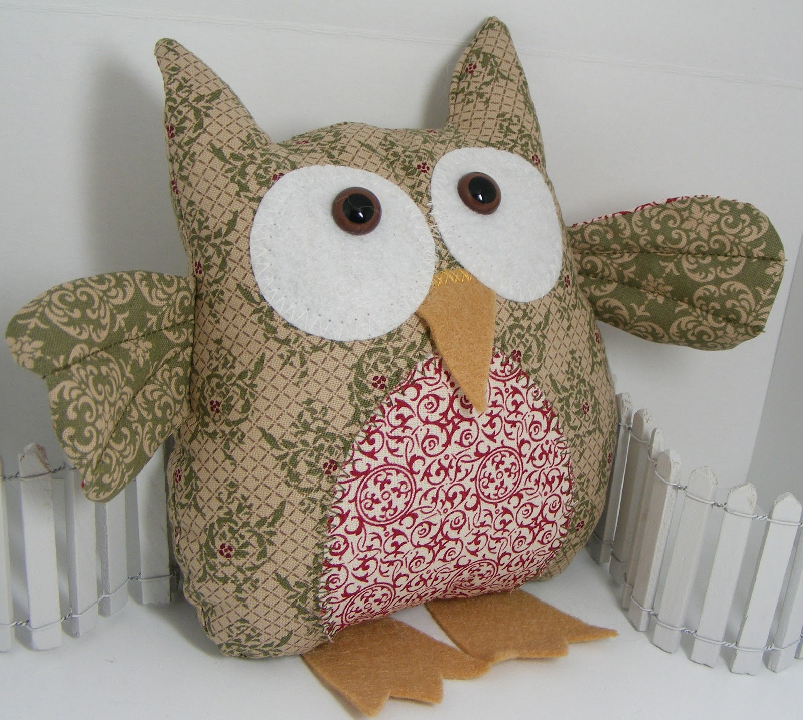 Cute Stuff By Shirley Stampin 39 Up Fabric Owls For Winter