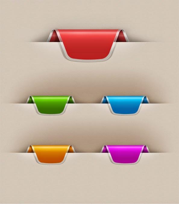 Free Colorful Web Ribbons Set