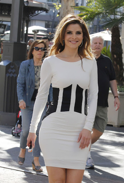 Maria Menounos on the Set of Extra at The Grove in Los Angeles