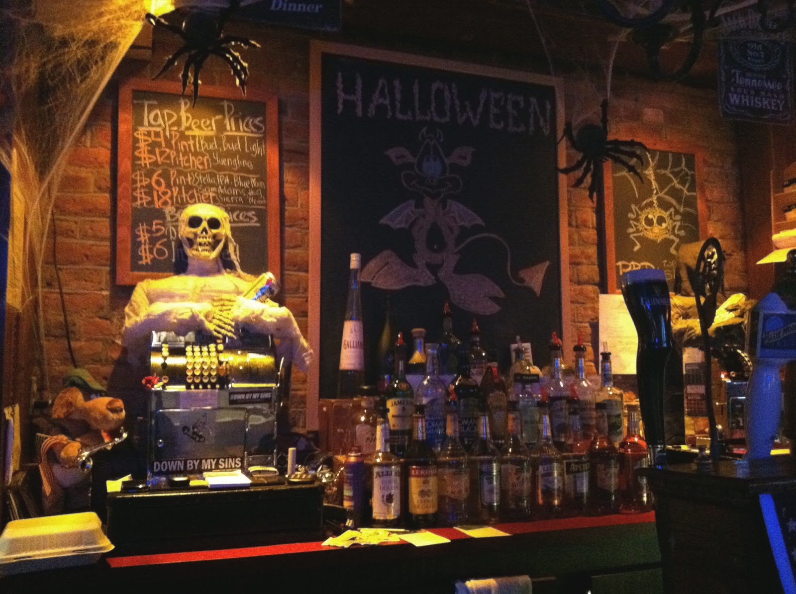 halloween decorations of the bar kind
