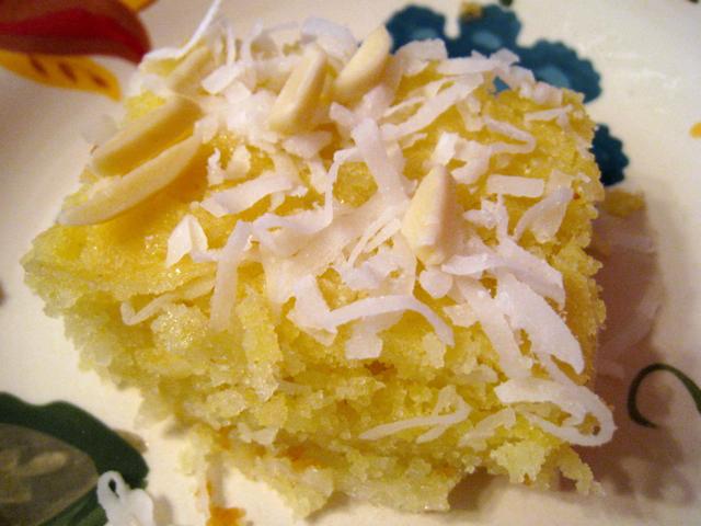 how to make basbousa semolina cakes with syrup