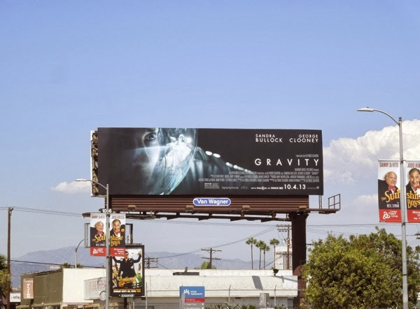 Sandra Bullock Gravity movie billboard