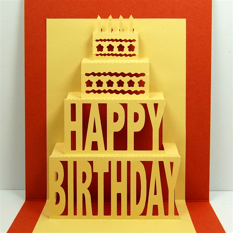 Capadia Designs Happy Birthday Popup – Happy Birthday Pop Up Cards