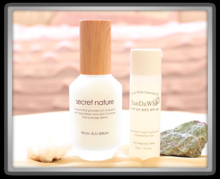 겟잇뷰티박스 by 미미박스 memebox beautybox Special #46 From Jeju unboxing review box Secret nature serum skincure sandawha mild clensing oil