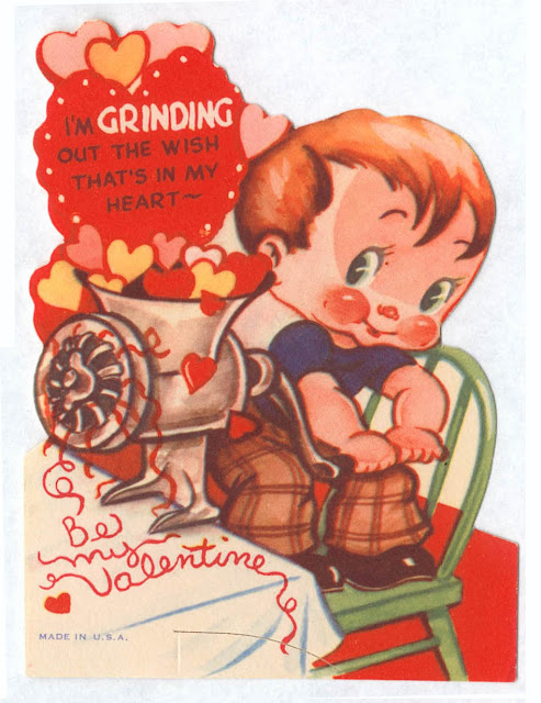 Funny Vintage Valentine Cards Meat And Weapons Vintage
