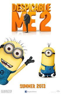 Despicable Me 2 Poster with minions and Gru