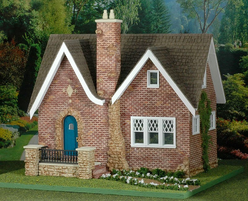 Good sam showcase of miniatures dealer debbie young for Brick kit homes