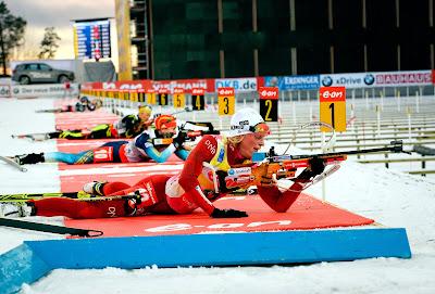 Biathlon World Cup, Carl Johan Bergman, France, Ice, Marie Laure Brunet, Norway, Ostersund, Place, Race, Rifle, Shooting, Sports, Sweden, Target, Tora Berger, Winter, Women,