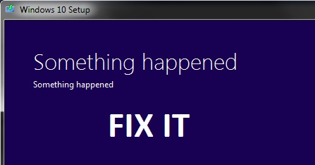 Fix: Something Happened error while installing Windows 10