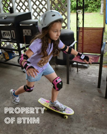 miss grace skatebarding 1st time 4