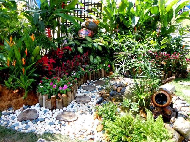 membina impian rekabentuk hiasan taman di halaman
