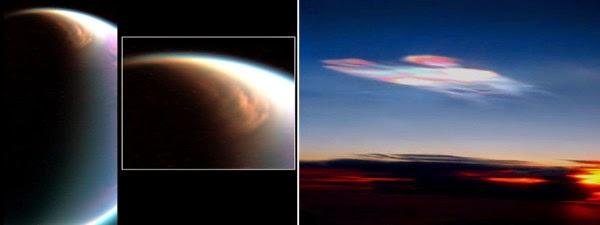 Awan Es, Permukaan Bulan Titan Saturnus