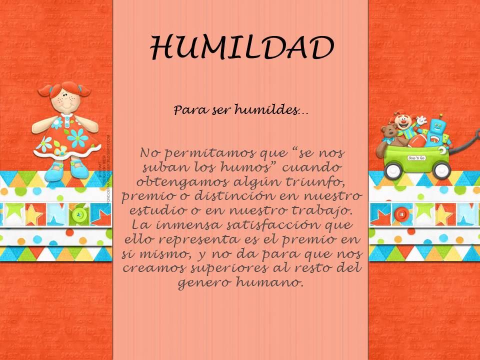 GIMNASIO: VALOR DEL MES: HUMILDAD