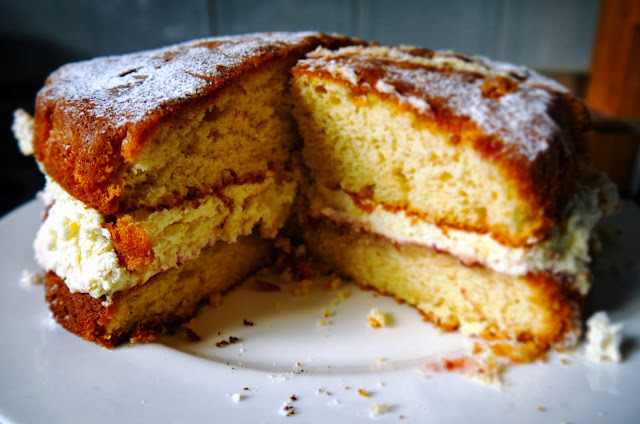 Cream Sponge Birthday Cake