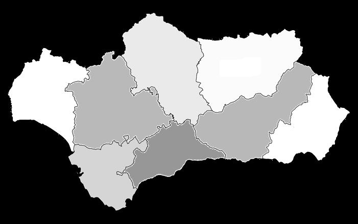 mapa mudo de andalucia para imprimir