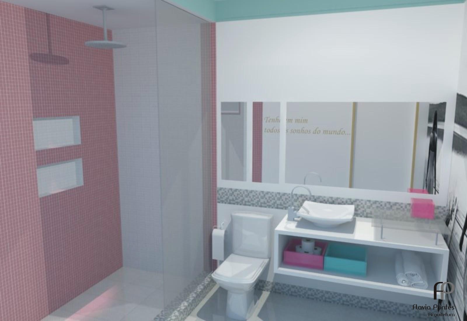 Postado por Flavia Pontes Arquitetura às 13:53 #7D4E63 1600x1100 Banheiro Com Azulejo No Teto