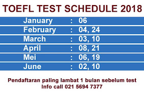TOEFL TEST SCHEDULE 2021