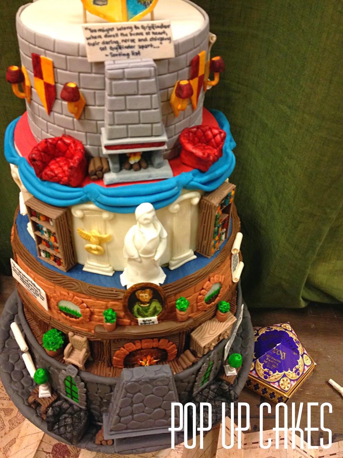 pop up cakes  hogwarts houses