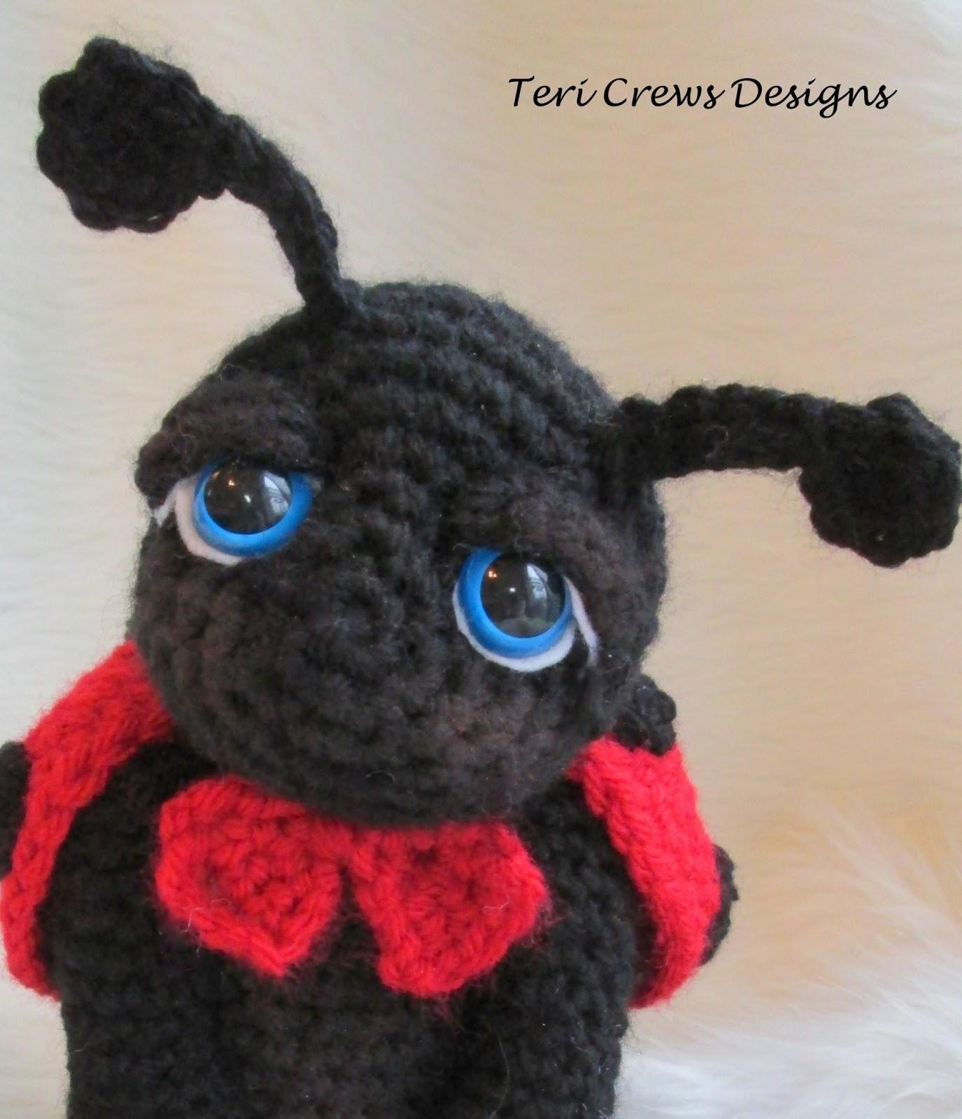 Ladybug Amigurumi Crochet Pattern Free : Teris Blog: New Free Ladybug Pattern