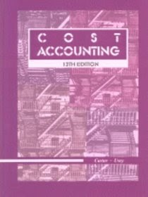 Free Download Resume E-Book Cost Accounting Carter-Usry
