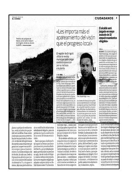 Plataforma errigoiti arrieta garbi el correo 14 de abril for Correo la 14