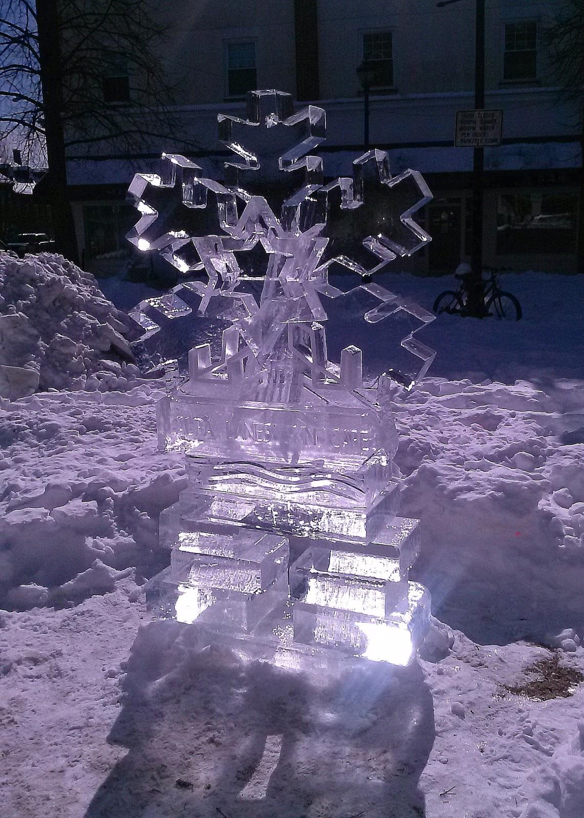 ice, sculpture, salem, massachusetts, snow flake