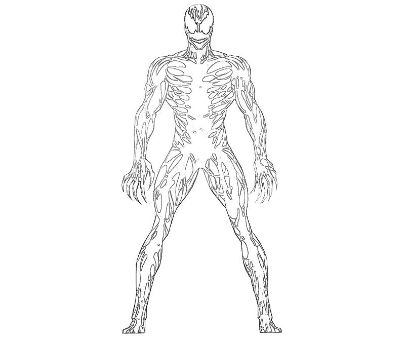 spiderman carnage coloring pages - photo#14