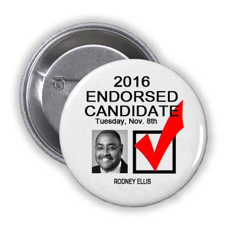 RACE FOR HARRIS COUNTY COMMISSIONER PRECINCT 1 -- Rodney Ellis