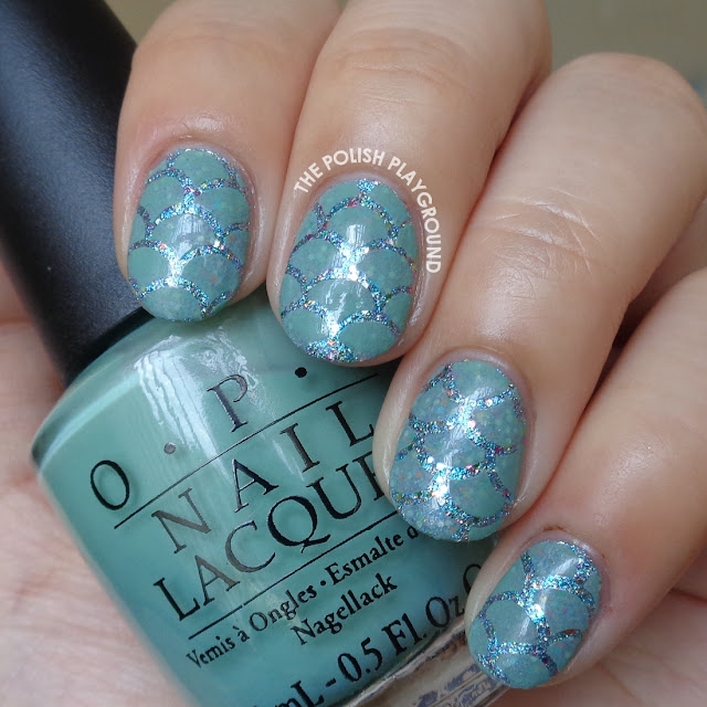 Mermaid Scales Inspired Nail Art