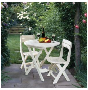 Popular I love the look of this Quik Fold piece white patio set and the price is definitely right at only I need to test out the fyness of this set the