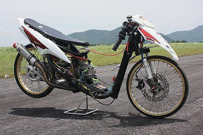 art design motor scootermatic dragrace underbone