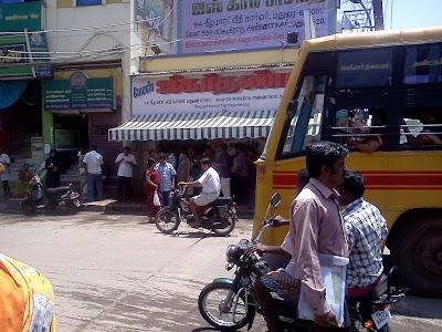 The world famous Jigardhanda store in Madurai