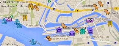 Sehenswürdigkeiten auf der Hamburg Karte