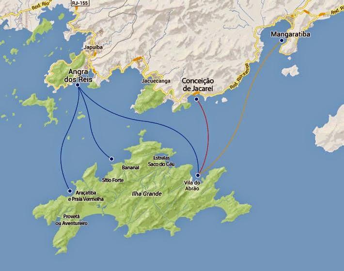 Mapa de Ilha Grande
